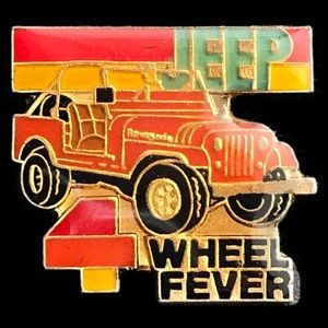 Other - Vintage Jeep 4 Wheel Fever pin